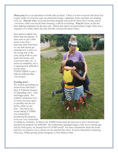 Kauffman Ministry Update